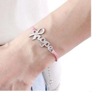 Hope cancer ribbon wish bracelet